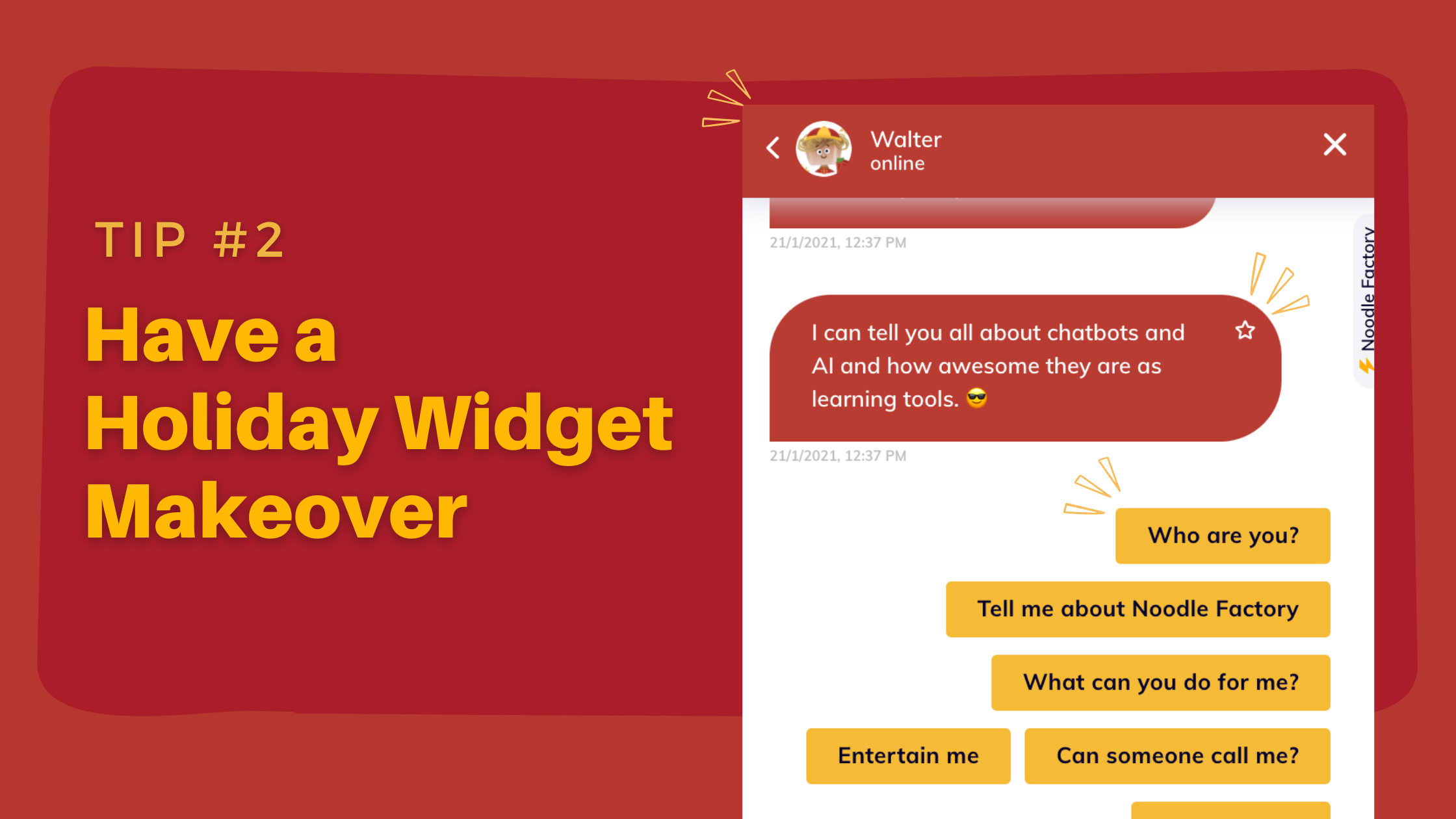 Prepare Your Chatbot for Chinese New Year - have a holiday widget makeover