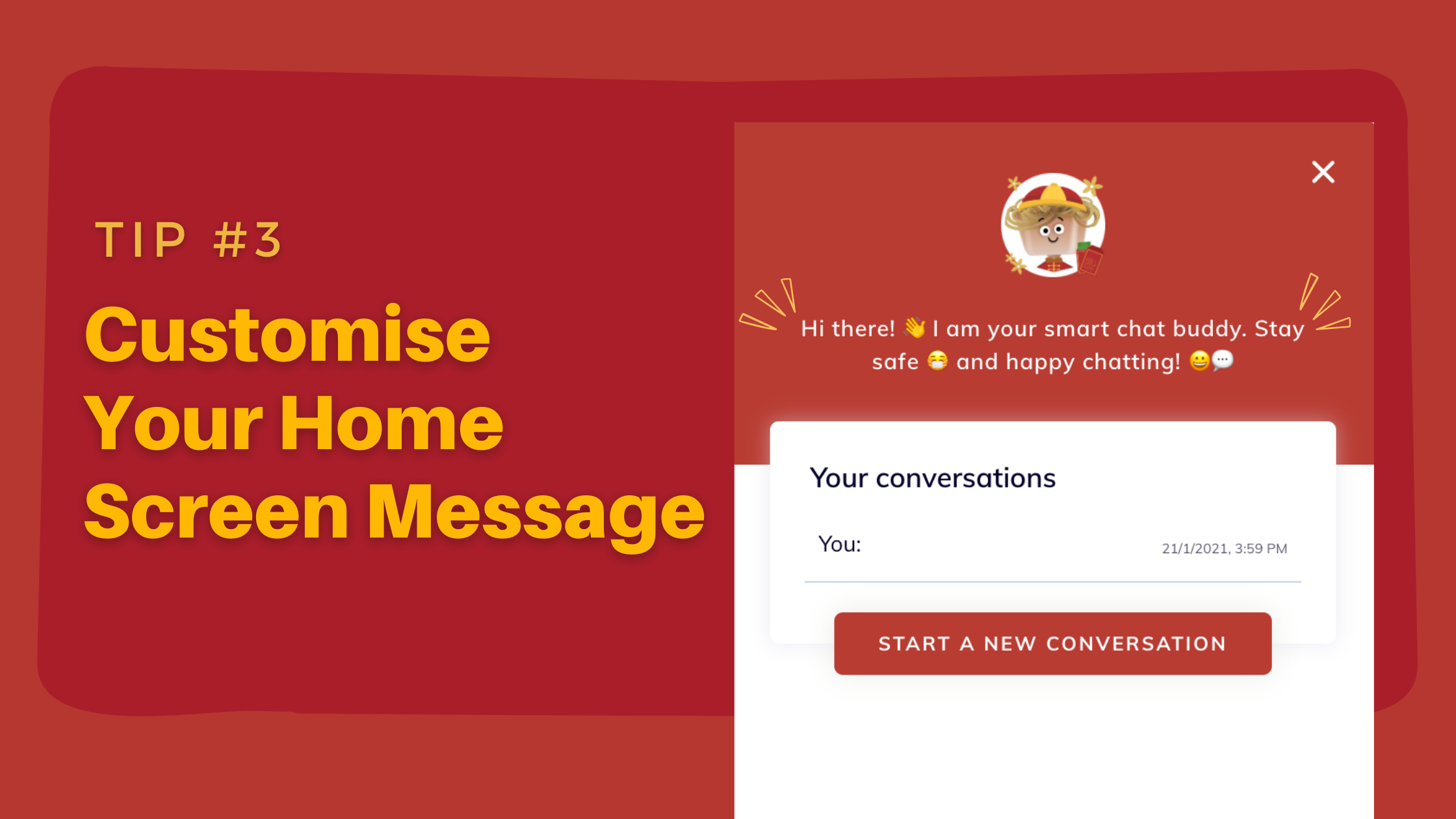 Prepare Your Chatbot for Chinese New Year - customise home screen message